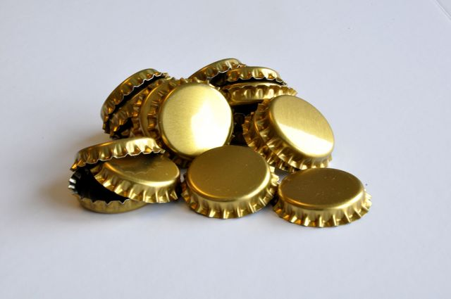 Bottle Caps, Gold