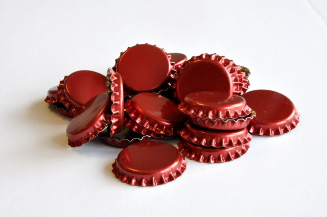 Bottle Caps, Red